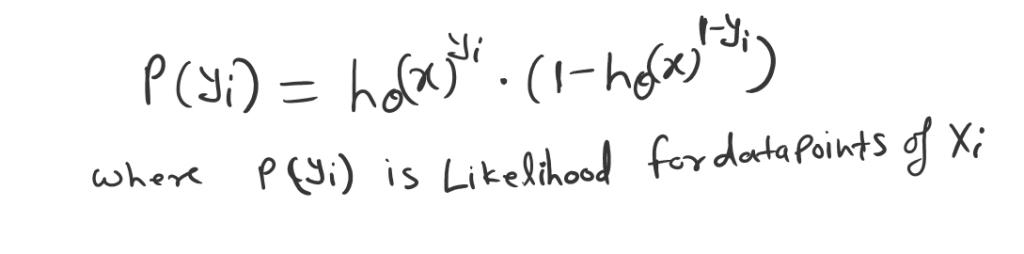likelihood for data points (Maximum likelihood estimation.)